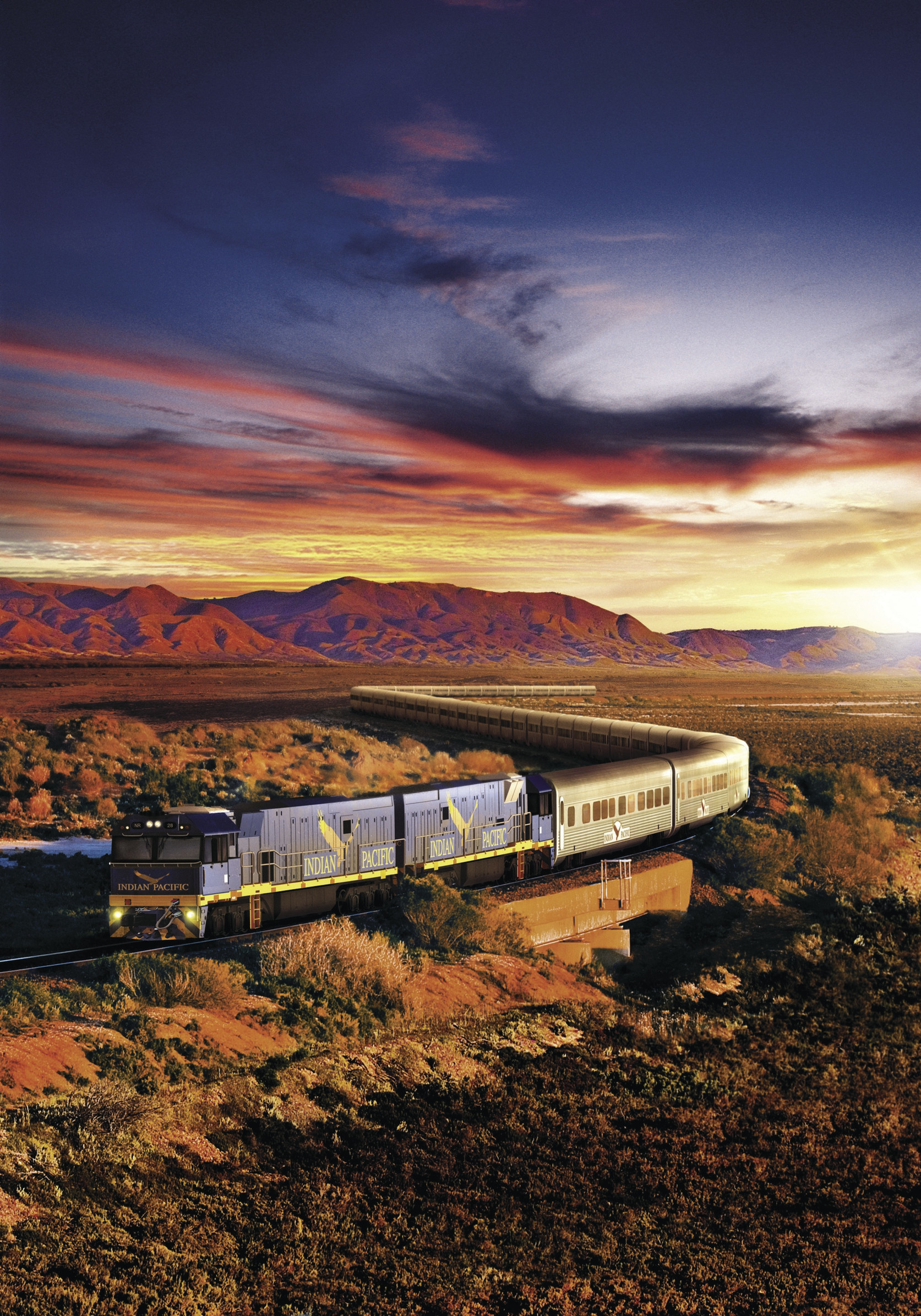 Indian Pacific rail journey Sydney to Perth